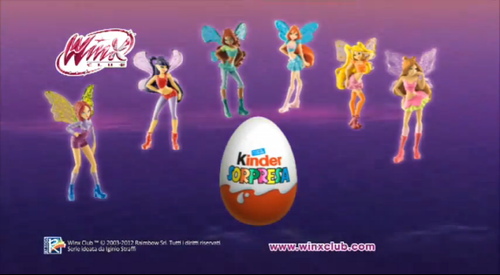 Winx Dolls in Kinder Eggs