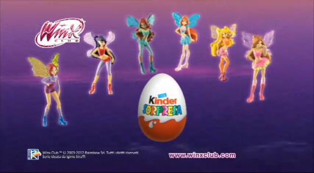 Winx Dolls in Kinder Eggs