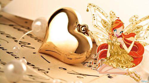 Winx dhahabu Enchantix karatasi za kupamba ukuta