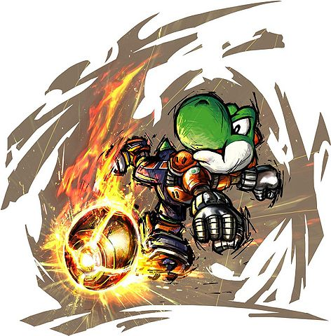 Yoshi in Mario Strikers Charged