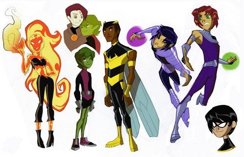 Teen Titans wallpaper called awsome titans gender bender