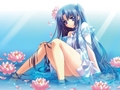 girl in a pond - anime-girls photo