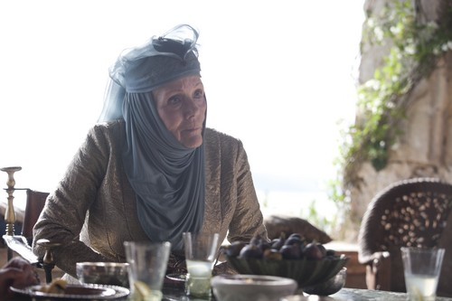 Game of Thrones wallpaper possibly containing a dinner table, a holiday dinner, and a brasserie titled Olenna Tyrell