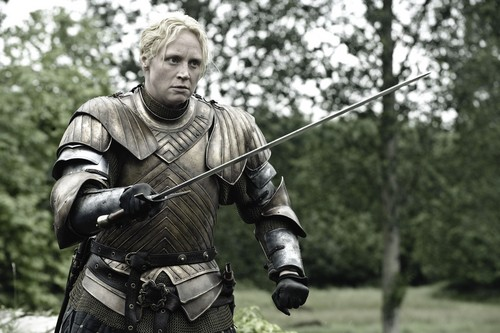 Game of Thrones wallpaper containing a breastplate and an armor plate called Brienne of Tarth