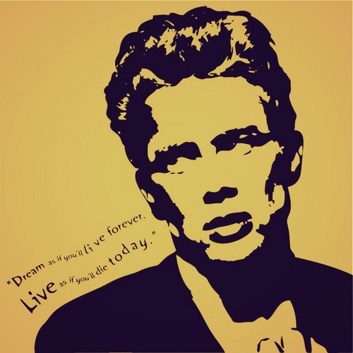 James Dean wallpaper possibly with anime entitled james dean quote