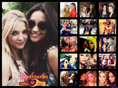 Shay Mitchell and Ashley Benson 바탕화면 with 아니메 called shay&ashley