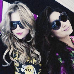 Shay Mitchell and Ashley Benson 바탕화면 with sunglasses entitled shayley