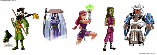 Teen Titans - les jeunes titans karatasi la kupamba ukuta called the best warriors