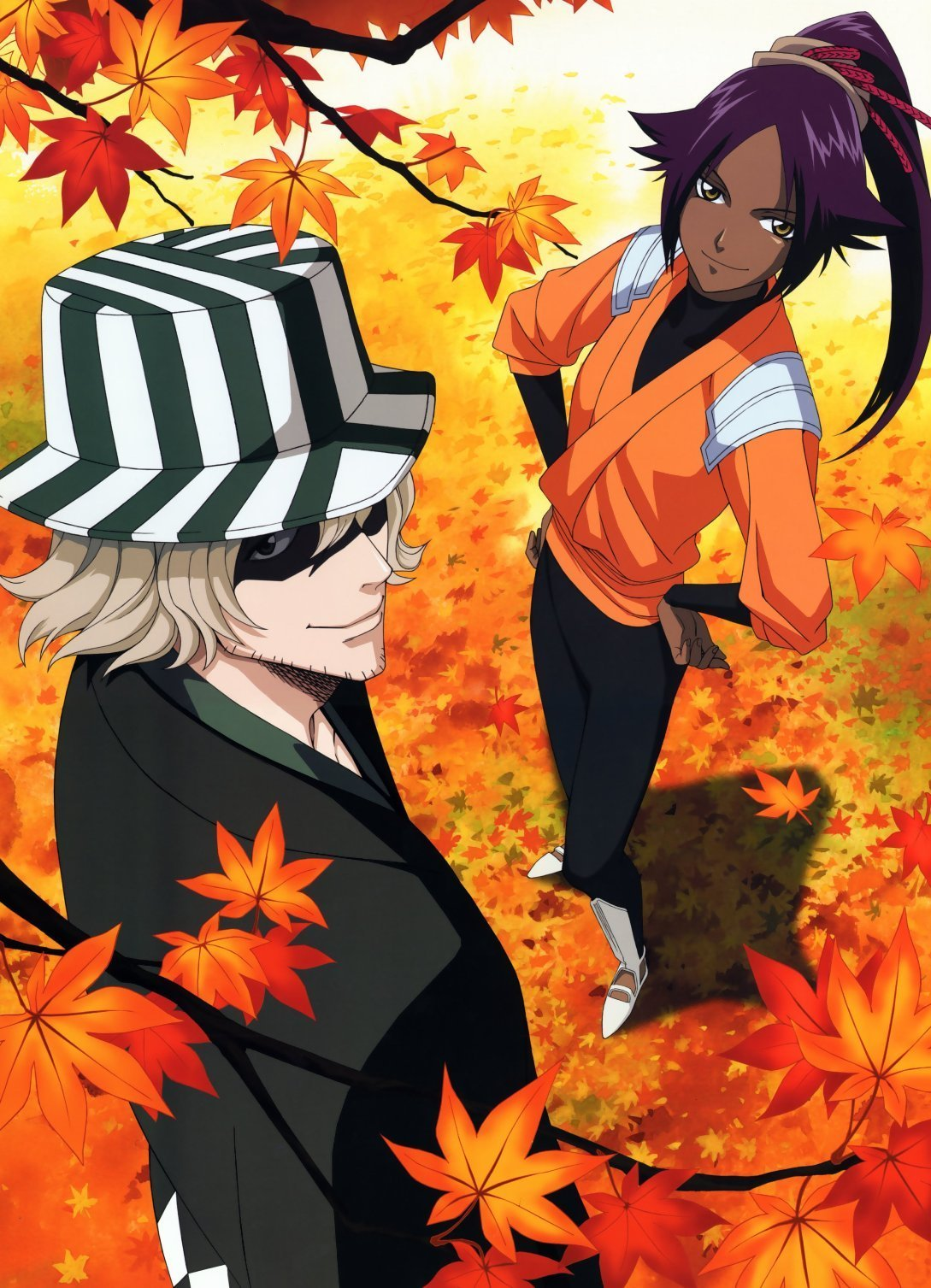bleach anime and manga images urahara and yoruichi hd wallpaper and background photos  34838786