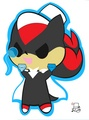 .:Chibi Kaito Shadow:. - shadow-the-hedgehog photo