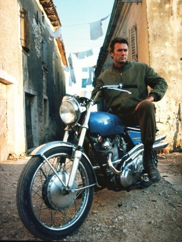 Clint Eastwood wallpaper probably containing a motorcycle cop and a moped titled ★ Clint  ☆