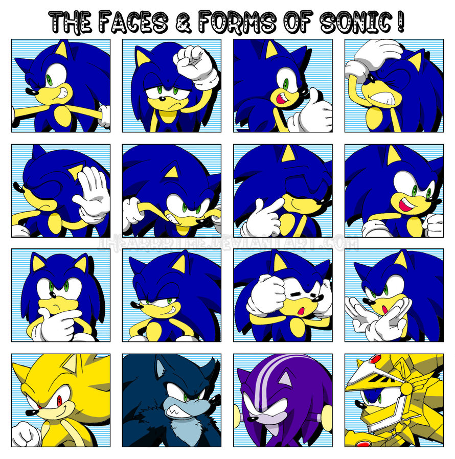 Sonic Forms: Sonic The Hedgehog Images :.: Faces & Forms Of Sonic