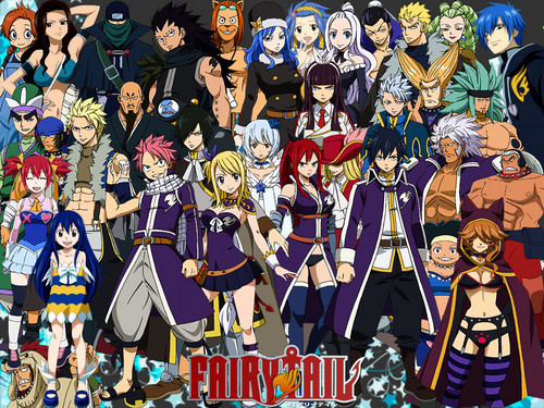 Fairy Tail wallpaper probably containing Anime entitled ~Fairy Tail♥