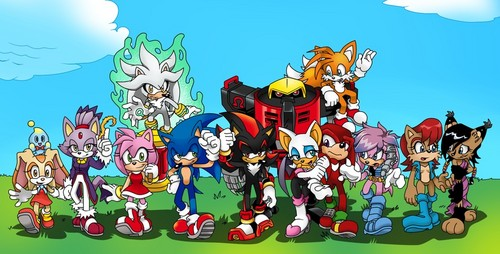 Sonic the Hedgehog achtergrond with anime titled .:Freedom Fighters:.