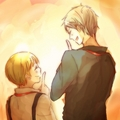 ~Prussia and Litte Germany~  - hetalia-prussia fan art