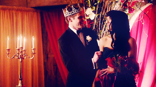 """Your Prom King and Queen Matt Donovan and Bonnie Bennett"""