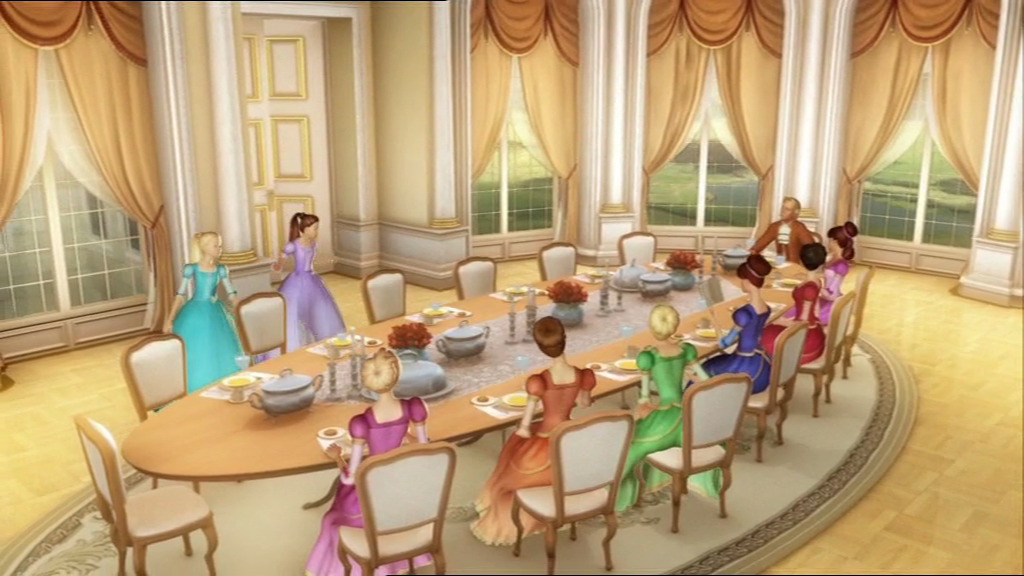 12dp Dinner Lunch Time Barbie Movies Photo 34915565