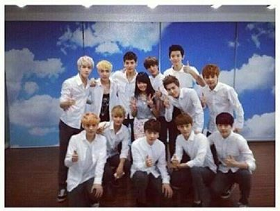 EXO-K wallpaper entitled 130703 EXO with a lucky fan