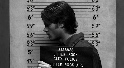 Sam Winchester wolpeyper possibly with a sign called 2x19