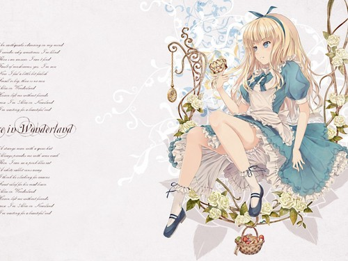 garotas animê wallpaper titled Alice in Wonderland wallpaper