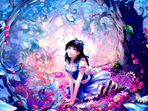 ragazze Anime wallpaper titled Alice in Wonderland wallpaper