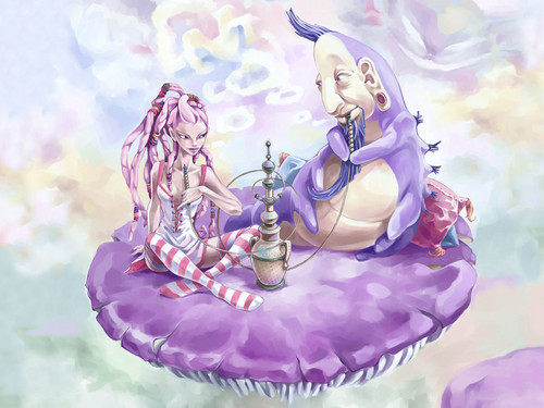 anime Girls achtergrond containing a bouquet entitled Alice in Wonderland achtergrond