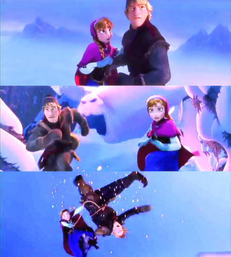 Princess Anna kertas dinding possibly with a diving suit, tobogganing, and tambah entitled Anna & Kristoff