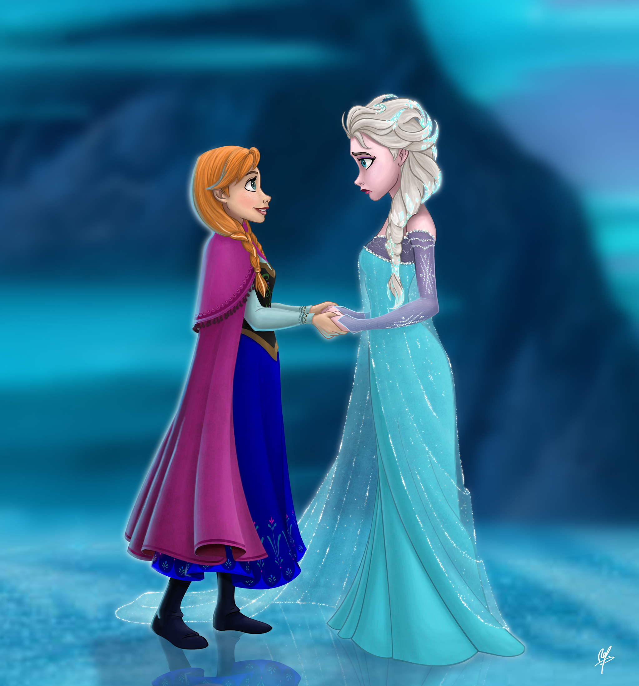 Anna and elsa princess anna fan art 34964312 fanpop - Princesse anna et elsa ...