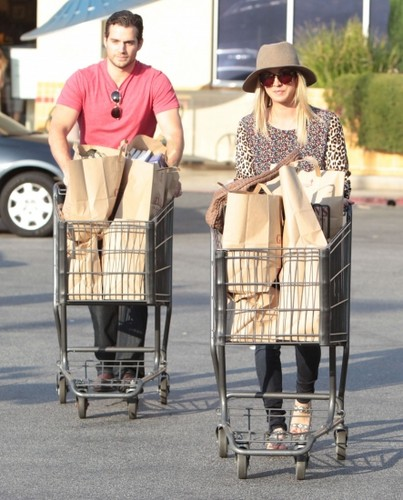 At Gelson's Market with Henry Cavill in Sherman Oaks