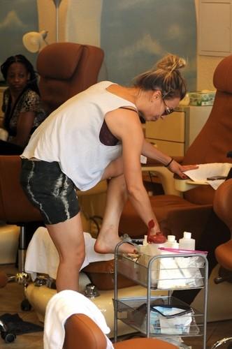 At a nail salon in Sherman Oaks