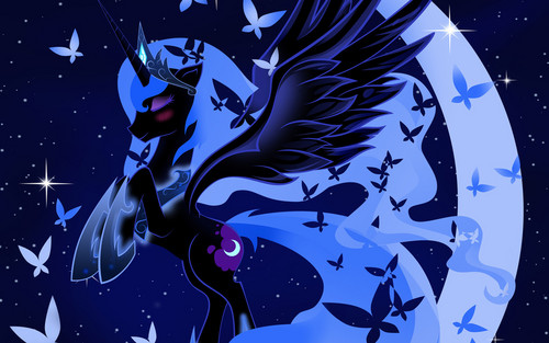 Princess Luna achtergrond with anime entitled Awesome Luna pics