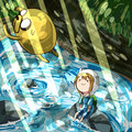 Bathing, somewhat. - adventure-time-with-finn-and-jake photo