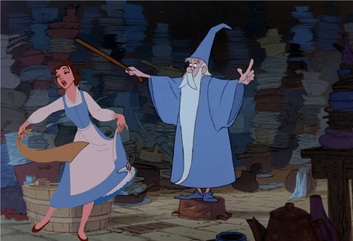 Belle and Merlin Clean Up!
