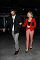 Brittany Snow and Tyler Hoechlin leave a Beyonce concert