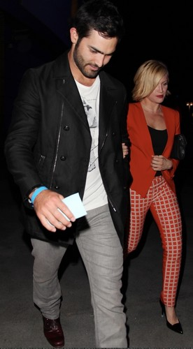 Tyler Hoechlin fond d'écran containing a business suit and a well dressed person entitled Brittany Snow and Tyler Hoechlin leave a Beyoncé concert
