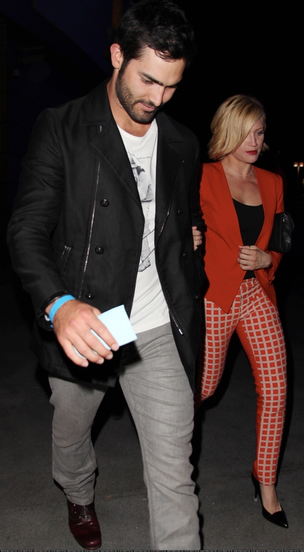 Brittany Snow and Tyler Hoechlin leave a Beyoncé tamasha