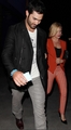 Brittany Snow and Tyler Hoechlin leave a Beyoncé concert