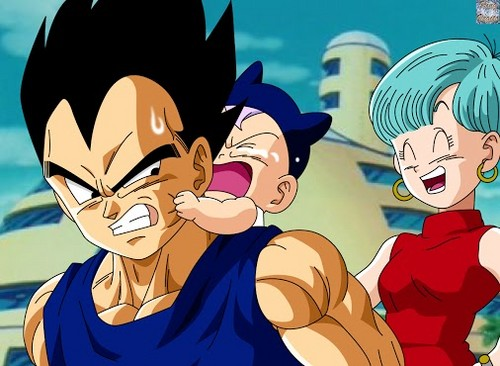 Dragon Ball Z wallpaper containing anime titled Bulma, Trunks and Vegeta