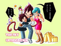Bulma, Vegeta and turble