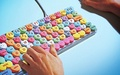 Candy hearts keyboard  - candy photo