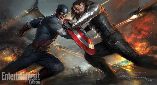 The Avengers wallpaper with a breastplate and an armor plate titled Captain America: The Winter Soldier Concept Art