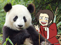 China meets giant panda!^^ - hetalia-china photo