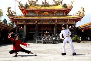 Hetalia پیپر وال possibly with a سٹریٹ, گلی entitled China vs Japan!Who well win!XD