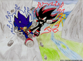 DARK SHADOW VS DARK SONIC - shadow-the-hedgehog photo