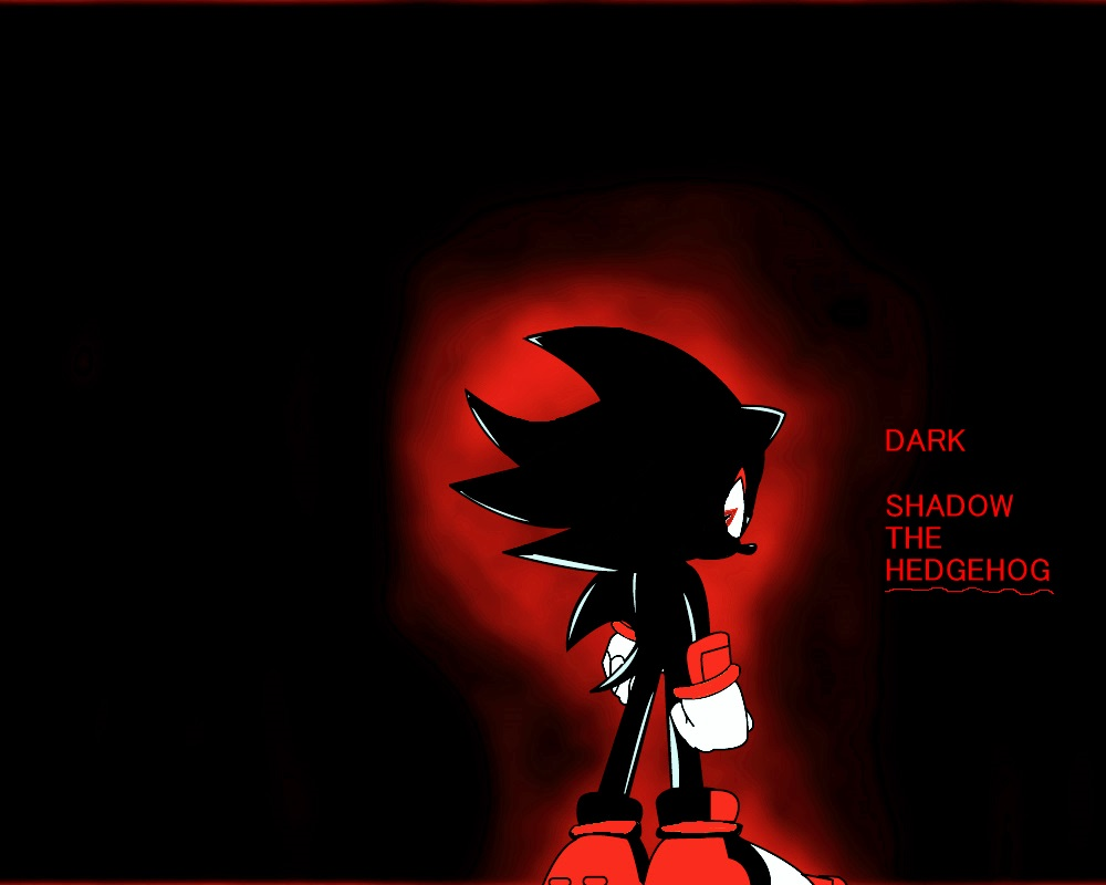 Shadow The Hedgehog Dark Shadow The Hedgehog