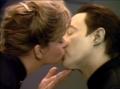 Data's Passionate Kiss