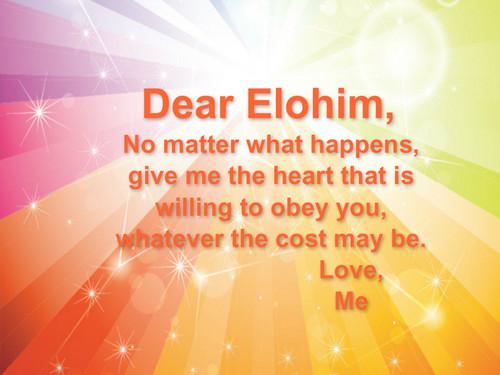 Dear Elohim