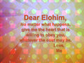 Dear Elohim - flowers fan art