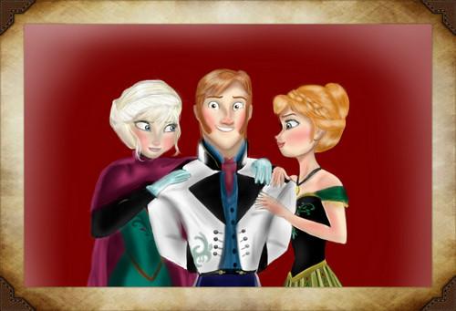 Elsa, Hans and Anna