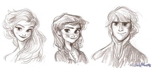 Elsa, Anna and Kristoff